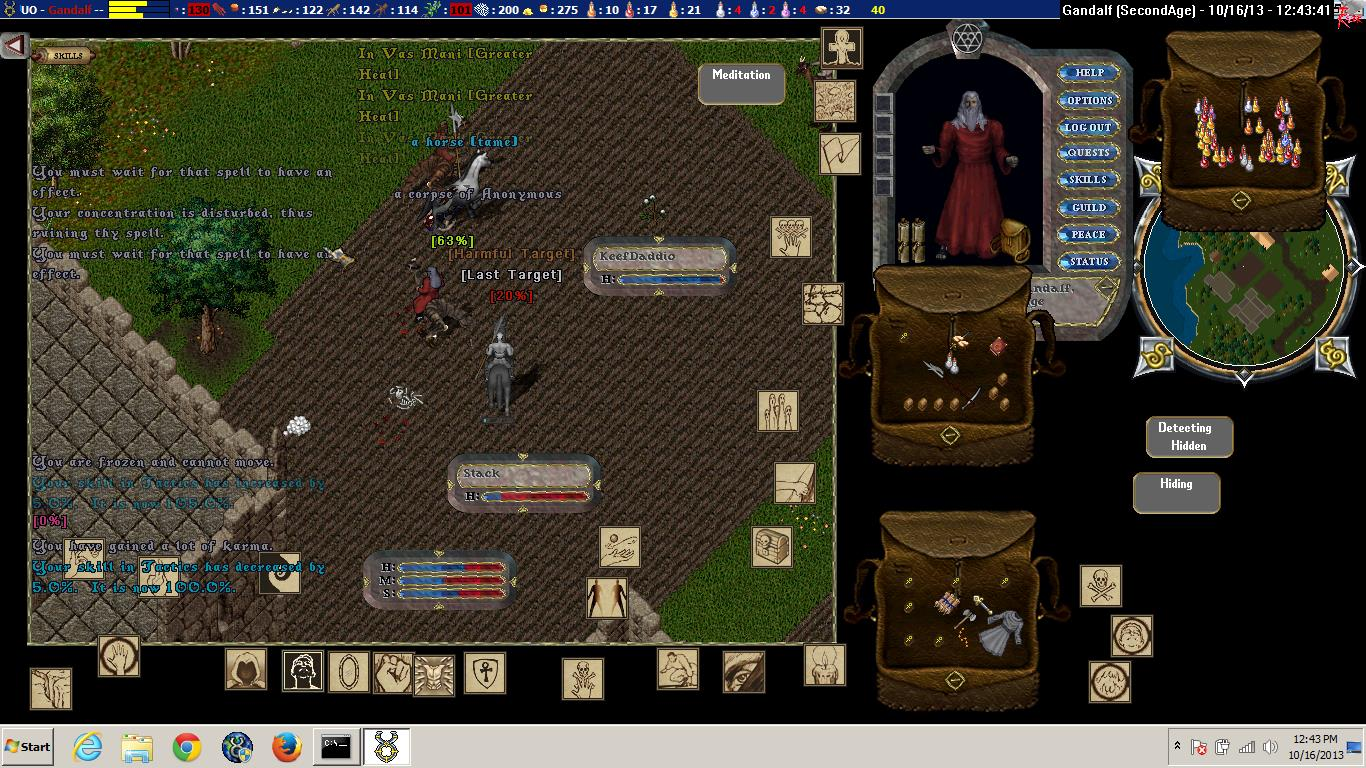 Pic Of the Day for Sunday, December 1, 2013! Gandalf and KeefDaddio owning forum PvPer Malikat and his buddy...